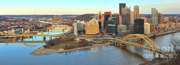 Photograph - Clear Skies Over Pittsburgh Panorama by Adam Jewell