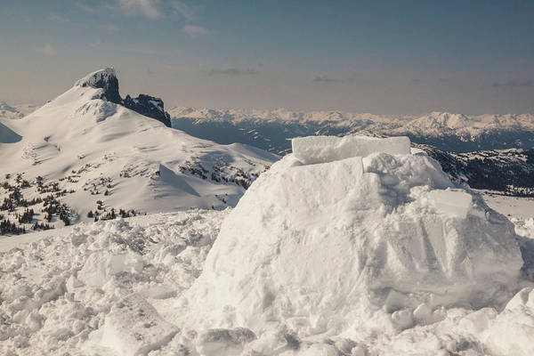 Whistler Photograph - Clear Sky Over Mountains In Snow by Christopher Kimmel