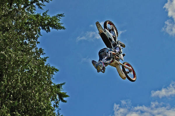 Dirtbike Photograph - Cleared For Landing by Brad Walters
