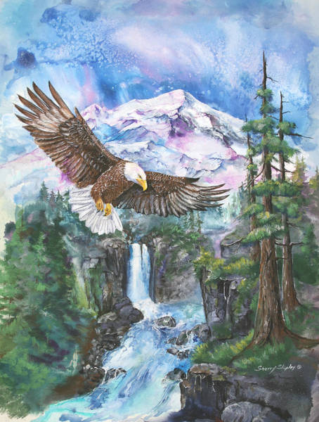 Painting - Cleared For Landing Mount Baker by Sherry Shipley