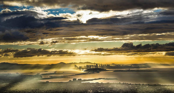 San Francisco Bay Area Photograph - Clearing Bay Storm by Fred Rowe