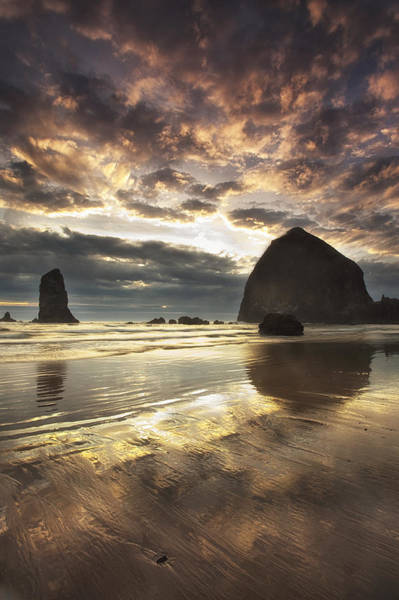 Wall Art - Photograph - Clearing Skies At Cannon Beach by Andrew Soundarajan