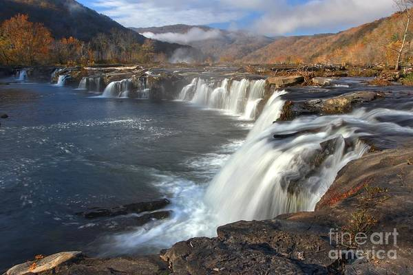 Photograph - Clearing Skies Over Sandstone Falls by Adam Jewell