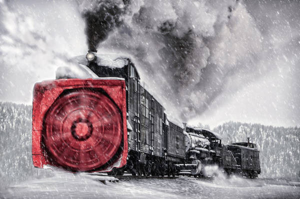 Wall Art - Photograph - Clearing The Tracks by Ken Smith