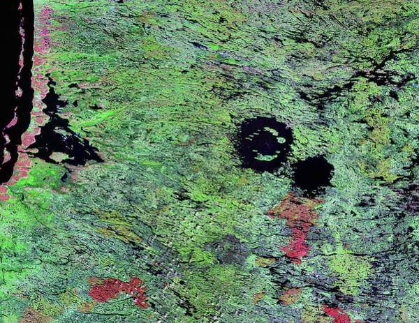 Clearwater Photograph - Clearwater Lakes by Nasa/science Photo Library