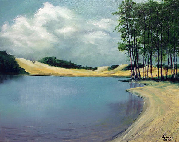 Oregon Coast Mixed Media - Cleawox Lake by Kenny Henson
