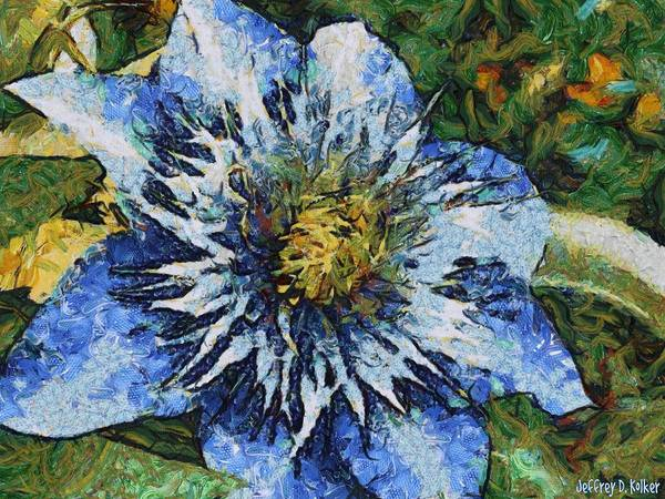Wall Art - Painting - Clematis by Jeffrey Kolker