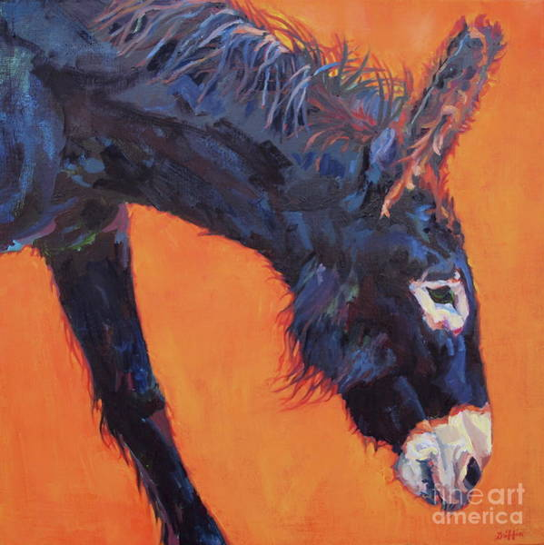 Donkey Painting - Clementine by Patricia A Griffin