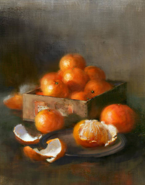 Wall Art - Painting - Clementines by Robert Papp
