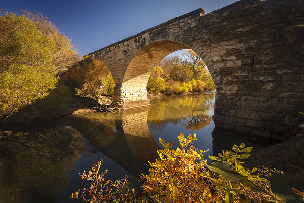 Meditative Wall Art - Photograph - Clements Stone Arch Bridge by Scott Bean