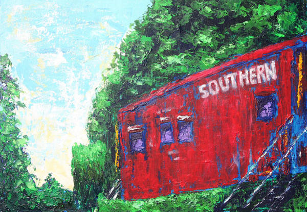Red Caboose Painting - Clemson Caboose by Kristye Addison Dudley