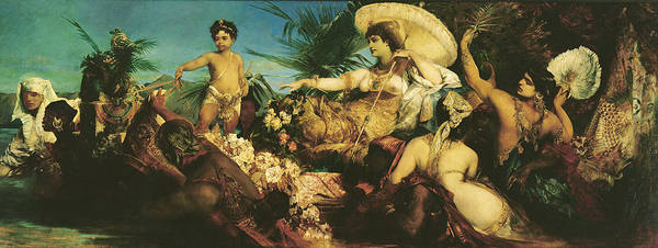 Nile Painting - Cleopatra, 1875  by Hans Makart