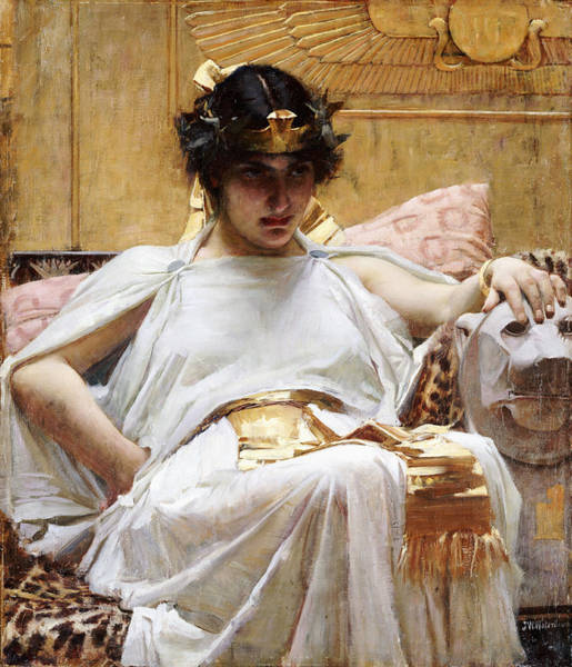 Egypt Photograph - Cleopatra, C.1887 Oil On Canvas by John William Waterhouse