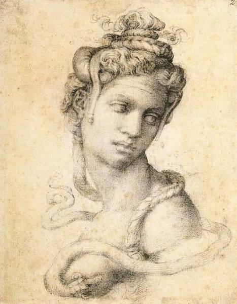Buonarroti Wall Art - Painting - Cleopatra by Michelangelo Buonarroti