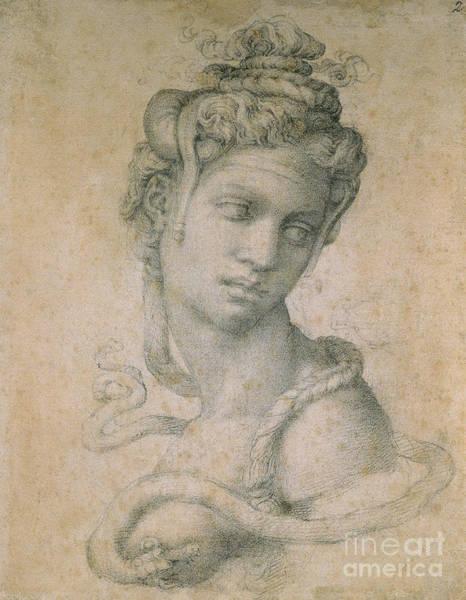 Buonarroti Wall Art - Drawing - Cleopatra by Michelangelo