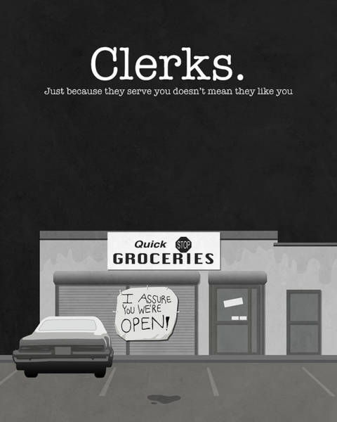 Quick Digital Art - Clerks Movie Poster by Finlay McNevin