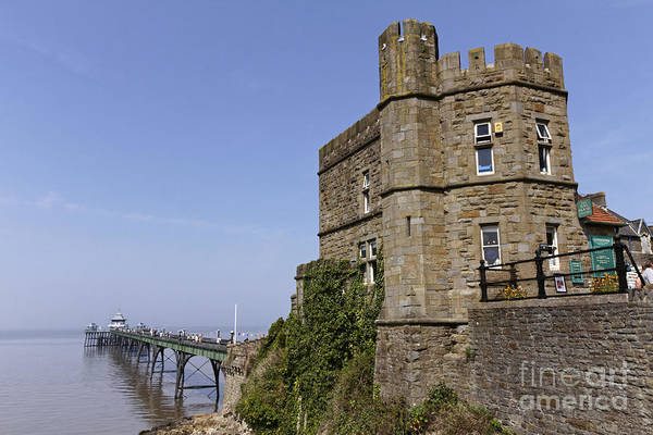 Preston Castle Photograph - Clevedon Pier And Gatehouse Somerset England by Robert Preston
