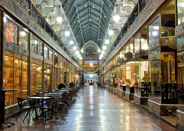 Playhouse Photograph - Cleveland Arcade by Frozen in Time Fine Art Photography