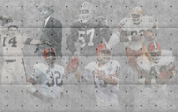 Greeting Photograph - Cleveland Browns Legends by Joe Hamilton