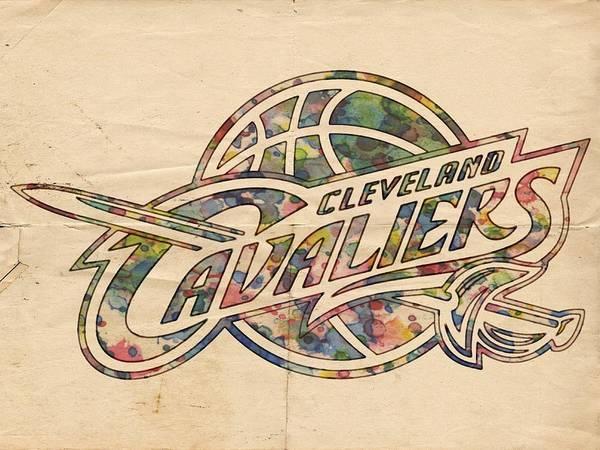 Wall Art - Painting - Cleveland Cavaliers Poster Art by Florian Rodarte