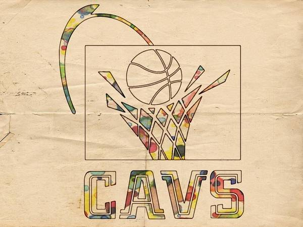 Painting - Cleveland Cavaliers Vintage Logo by Florian Rodarte