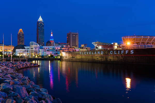 Photograph - Cleveland Cliffs Skyline Refelctions by Clint Buhler