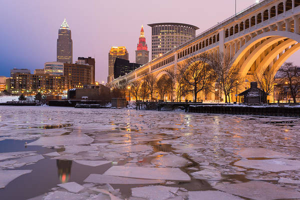Cleveland Ice Chips Skyline Art Print