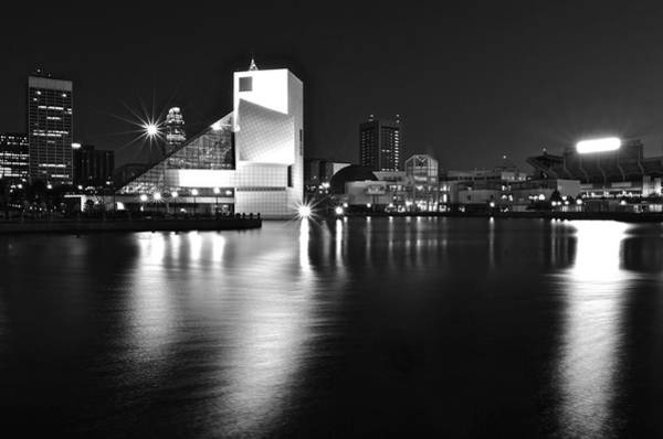 Courthouse Towers Wall Art - Photograph - Cleveland In Black And White by Frozen in Time Fine Art Photography