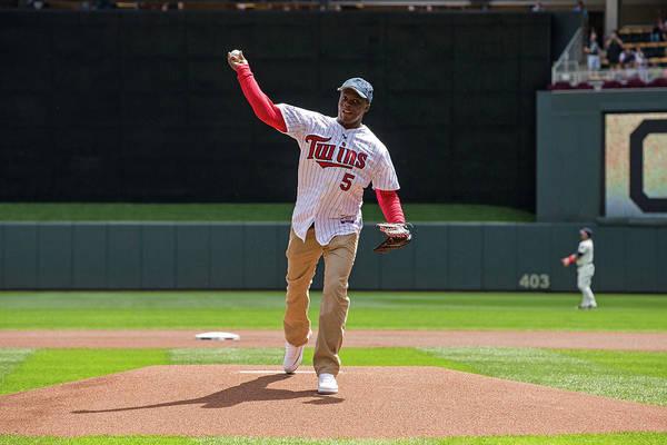 Sport Photograph - Cleveland Indians V Minnesota Twins by Brace Hemmelgarn
