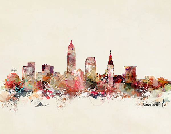 Wall Art - Painting - Cleveland Ohio by Bri Buckley