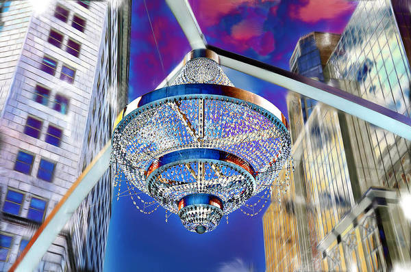 Cleveland Playhouse Square Outdoor Chandelier - 1 Art Print