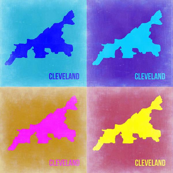 Wall Art - Painting - Cleveland Pop Art Map 2 by Naxart Studio