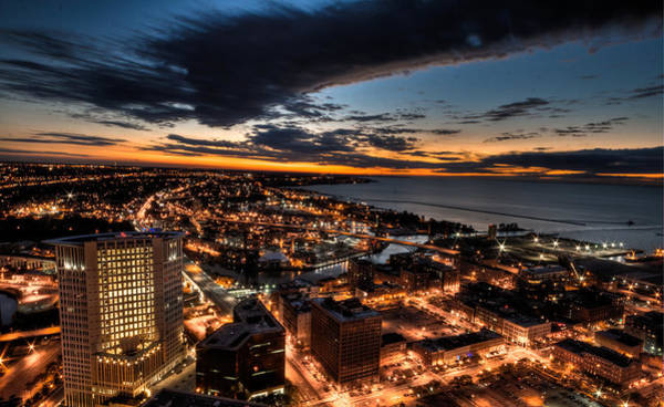 Photograph - Cleveland Sunset by Brent Durken