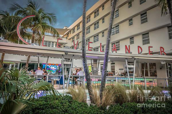 Multi-storey Wall Art - Photograph - Clevelander Hotel Art Deco District Sobe Miami Florida - Hdr Sty by Ian Monk