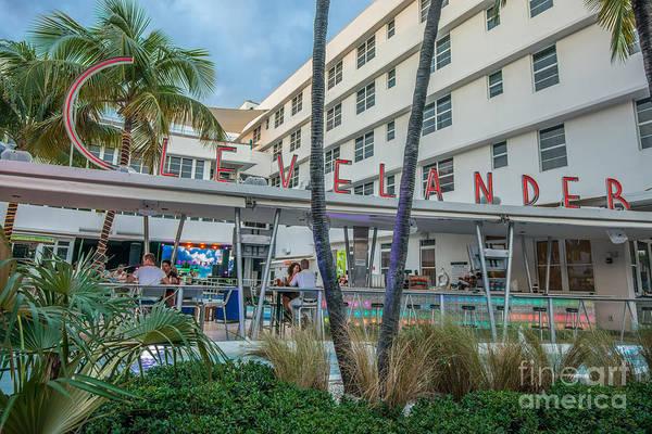 Multi-storey Wall Art - Photograph - Clevelander Hotel Art Deco District Sobe Miami Florida by Ian Monk