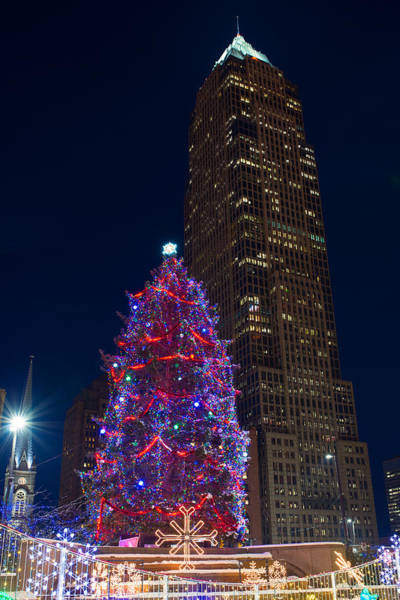 Photograph - Cleveland's Christmas Tree And Key Tower by Clint Buhler