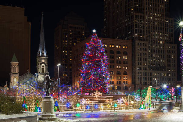 Photograph - Cleveland's Christmas Tree by Clint Buhler