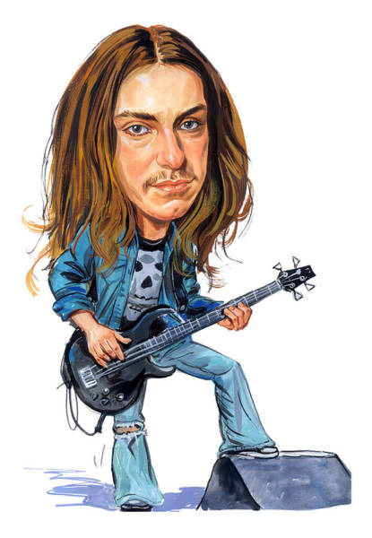 Thrash Metal Wall Art - Painting - Cliff Burton by Art