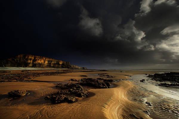 Cardiff Photograph - Cliff Face Traeth Mawr by Unique Landscape Images
