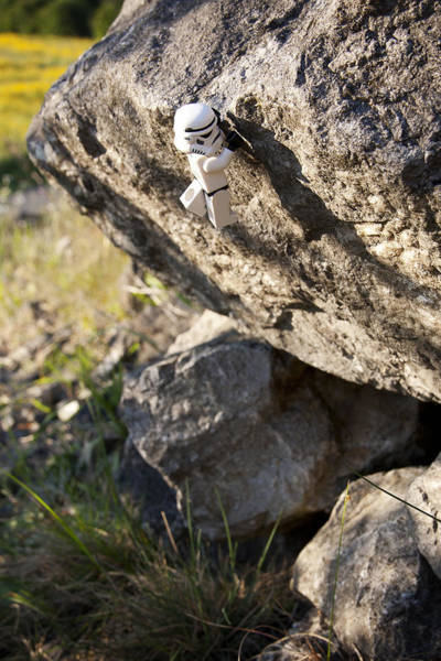Galactic Empire Photograph - Cliff Hanger Stormtrooper by Samuel Whitton