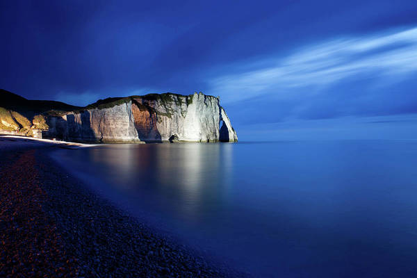 Etretat Photograph - Cliff Of Etretat, France, Just After by Nicolas Fleury-gobert