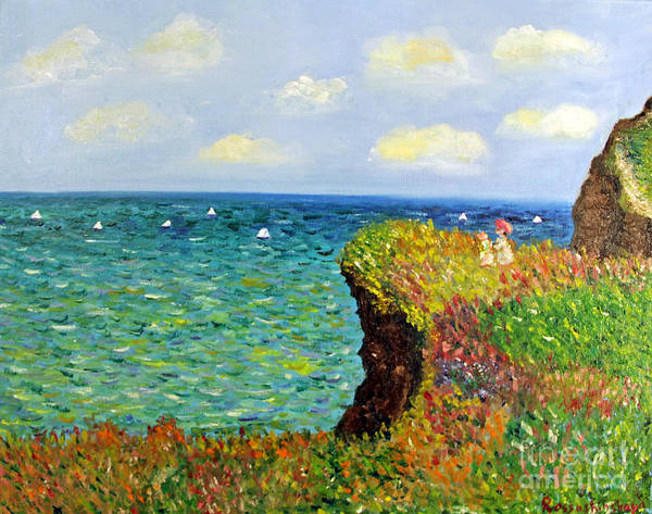 Russian Impressionism Wall Art - Painting - Cliff by Olesya Rossoshinskaya