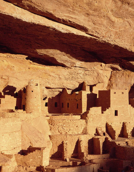 Anasazi Ruin Photograph - Cliff Palace Ruin In Mesa Verde by Greg Probst