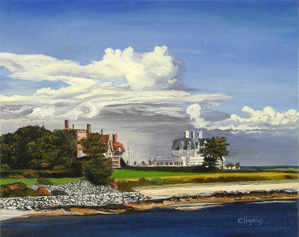 Wall Art - Painting - Cliff Walk Newport Rhode Island by Christine Hopkins