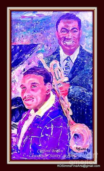Car Accident Painting - Clifford Brown And Lawrence  by Keith OBrien Simms