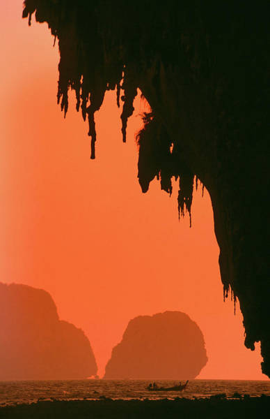Silhouette Photograph - Cliffs And Islands Silhouetted At by Paolo Cordelli