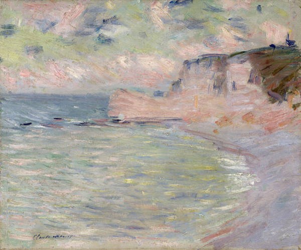 Painter Photograph - Cliffs And The Porte Damont, Morning Effect, 1885 Oil On Canvas by Claude Monet