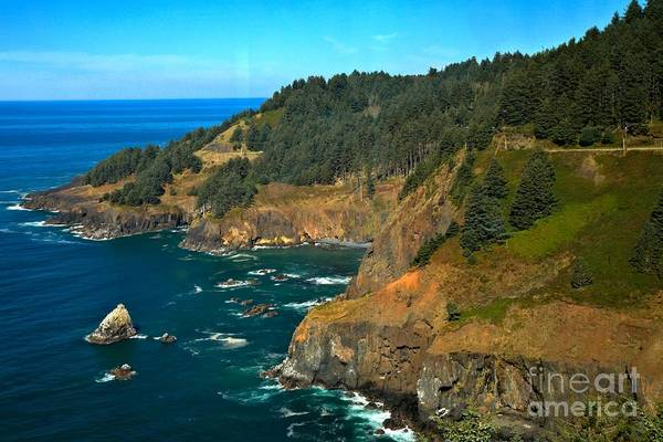 Photograph - Cliffs At Cape Foulweather by Adam Jewell