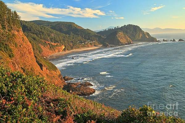 Photograph - Cliffs At Cape Meares by Adam Jewell