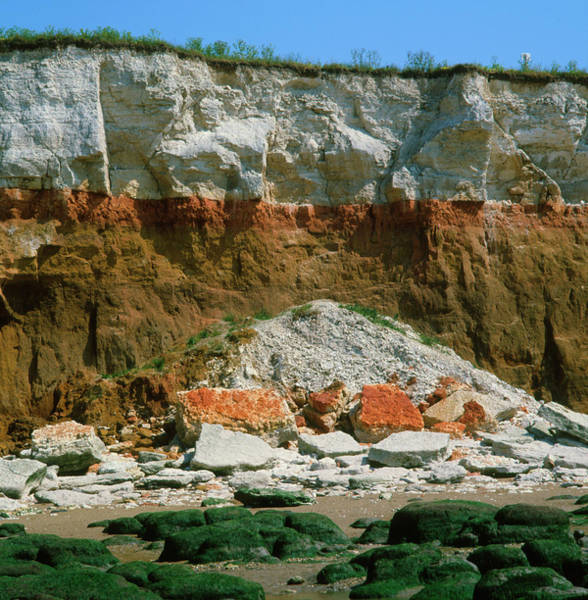 Wall Art - Photograph - Cliffs At Hunstanton by Dr Jeremy Burgess/science Photo Library